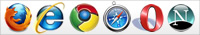 Ottimizzato per: Mozzilla Firefox, Internet Explorer, Google Chrome, Safari, Opera, Netscape